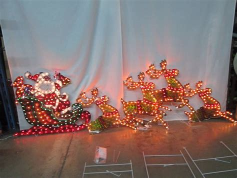 alcove lighted holographic santa sleigh january store
