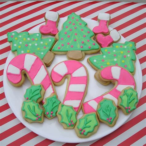 christmas sugar cookie designs decorated holiday sugar cookies recipes dishmaps