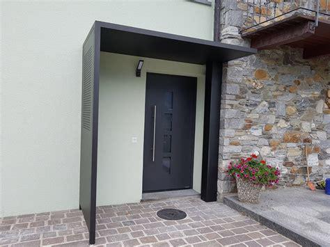 Pensilina Porta Ingresso Porta D Entrata Con Pensilina In Alluminio Doorsystem Sa