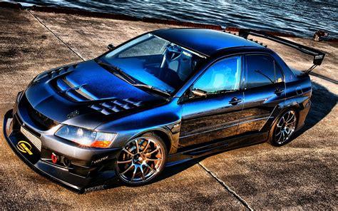 Blue Mitsubishi Lancer Wallpaper