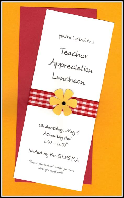 Teacher Luncheon Invitation Examples  Just Bcause