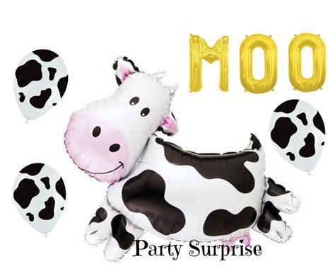 Cowhide Balloons - jumbo cow balloon black cow print balloons farm
