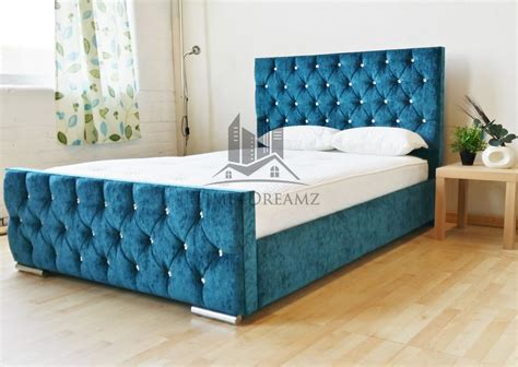 Teal Bed by Florida Teal Upholstered Bed Frame 3ft Single 4ft6