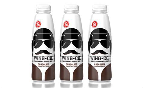 'wing-co' Milk Drink Branding Design By Pb Creative