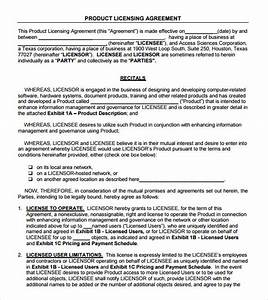 license agreement 7 free samples examples format With product license agreement template