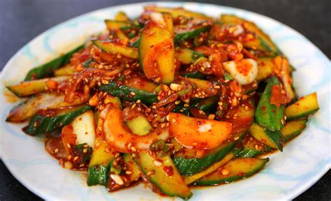 cuisine coreenne spicy cucumber side dish recipe maangchi com