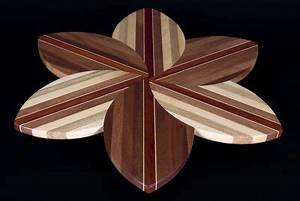 Flower Lazy Susan by Hardwood Creations Hand crafted from