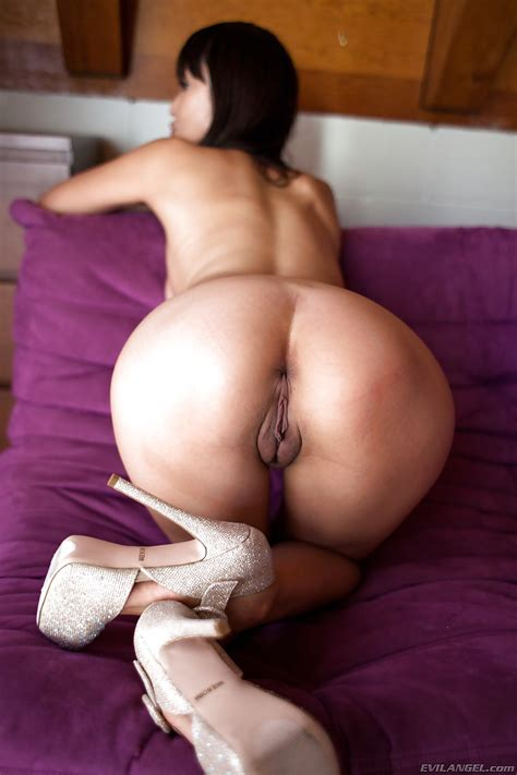 Young hot asian Marica Hase In sexy Heels Showing Nice ass And Nipples