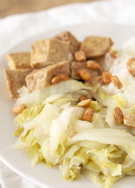 chou chinois cuisine tempeh mariné et poêlée de chou chinois clea cuisine
