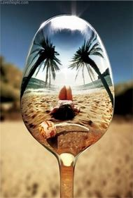 Beach Spoon Reflection
