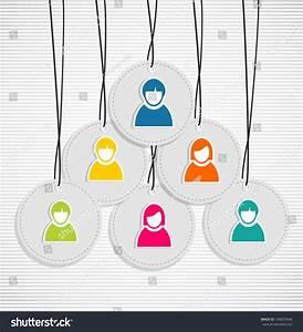 Team Work Diagram Hang Tag Series Stock Vector 148093646