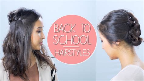 3 Quick & Easy Back To School Hairstyles YouTube