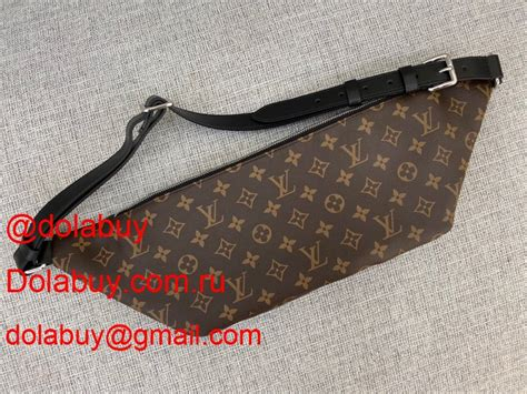 fashion louis vuitton christopher bumbag monogram macassar canvas  brown