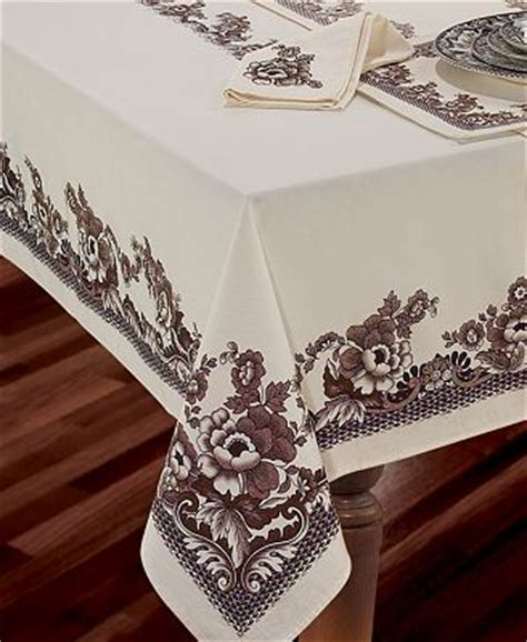 """Spode Table Linens, Woodland 60"""" X 120"""" Tablecloth Table"""