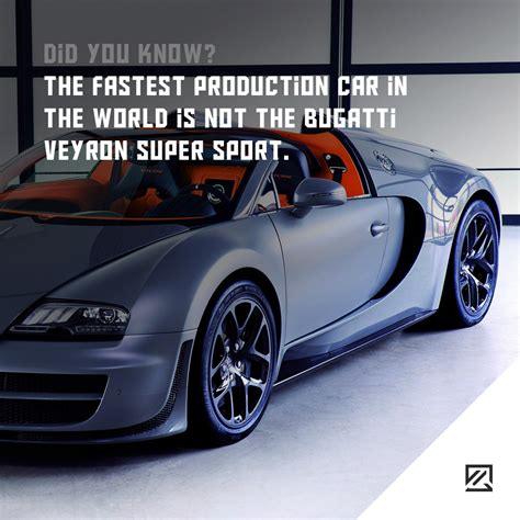 Fastest Production by The Fastest Production Car In The World Is Not The Bugatti