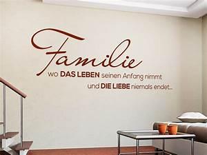Wandtattoo Sprüche Familie : wandtattoo familie spruch von ~ Frokenaadalensverden.com Haus und Dekorationen