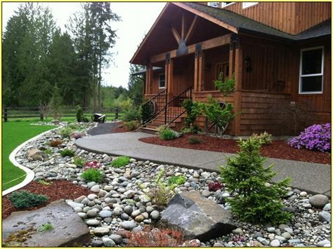 river rock pictures landscaping river rock landscaping for your natural exterior household tips highscorehouse com