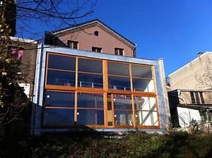 terrasse suspendue liege With maison brique et bois 4 architecte bertrand vanturenhout maison vanturenhout