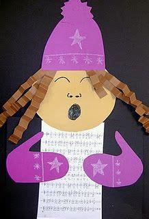 caroler christmas  crafts  pinterest