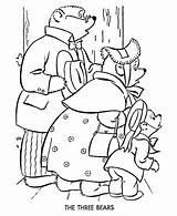 Goldilocks Bluebonkers Puppet Rhyme Coloringhome sketch template