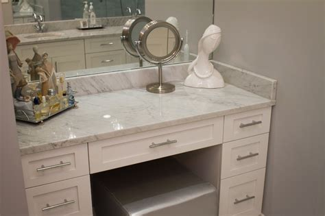 marble and granite counter top contemporary powder