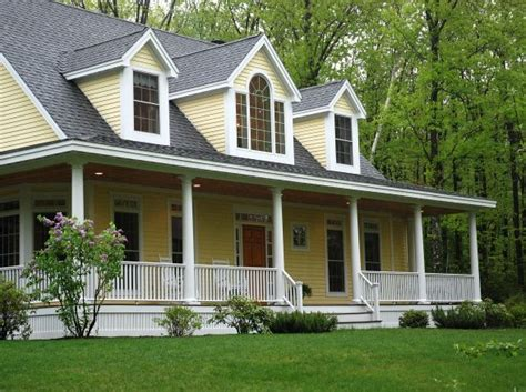 Yellow Country Homes with Porch