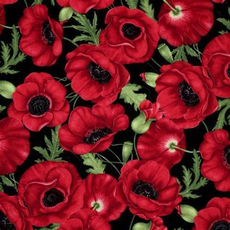 red poppy fabric ebay
