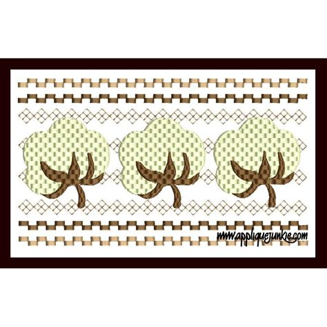bol l design faux smocked cotton boll embroidery design applique junkie