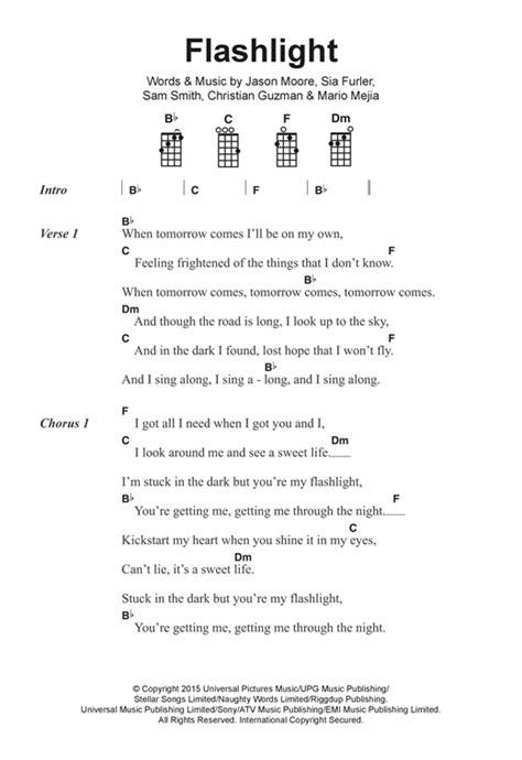not lagu kiss the rain flashlight sheet music by jessie j ukulele lyrics chords 122393