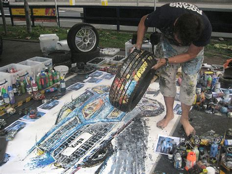 Ford Kuga Art Car Painting By Ian Cook