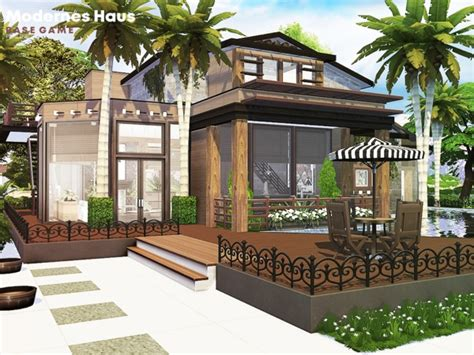 Modernes Haus  The Sims 4 Download Simsdomination