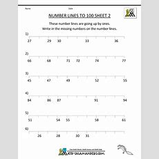 Number Lines Worksheets  Counting By 1s And Halves