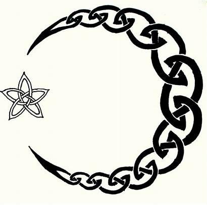 Moon Tattoo Stencil Celtic Star Designs Half