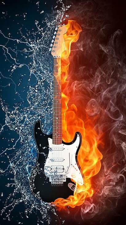 Fire Desktop Tablet Mobile Phone Guitar Water