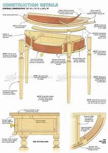 Classic Demilune Table Plans • WoodArchivist
