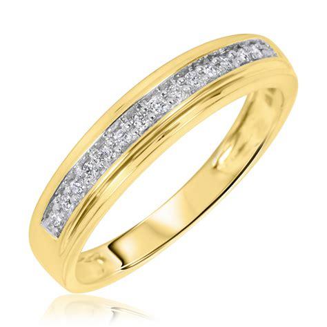 3 4 carat trio wedding ring set 14k yellow gold