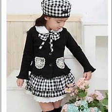 Girl's Grid (coat+skirt+hat 3 Pieces) Clothing Sets 1753205 2016 $3998