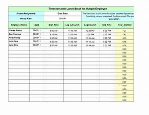 Image gallery lunch break schedule for Lunch schedule template excel