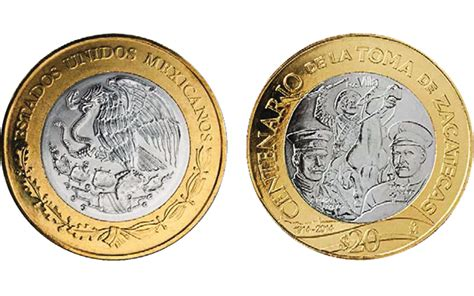 Mexico Circulating 20-peso Coin Marks Battle Of Zacatecas