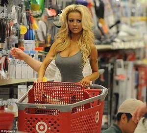 Courtney Stodden and Doug Hutchinson prepare to cook up a