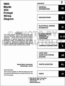 1993 Mazda 323 And Protege Wiring Diagram Manual Original