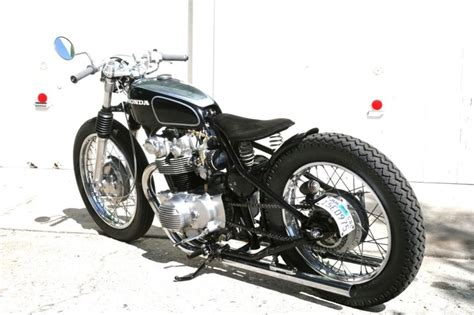 Honda Cb450(?) Hardtail Custom W/ Long, Low Exhaust Pipes