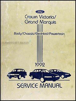car repair manuals online free 1992 ford crown victoria security system 1992 ford crown victoria mercury grand marquis repair shop manual original