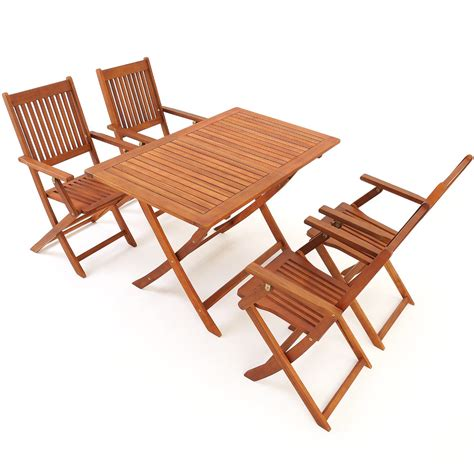 Outdoor Furniture Ebay Nsw wooden garden table chairs set sydney acacia wood