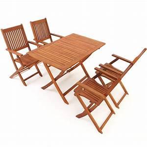 Table Et Chaise De Jardin En Bois : salon de jardin sydney en bois d 39 acacia ensemble table et chaise pliable ebay ~ Teatrodelosmanantiales.com Idées de Décoration