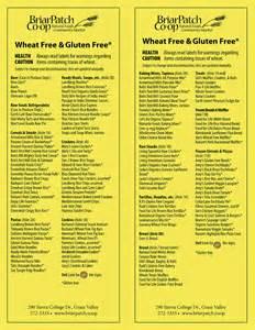 Gluten Free Diet Food List Printable