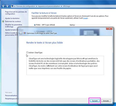 affichage bureau windows 7 lilapuce paramètres d affichage windows 7