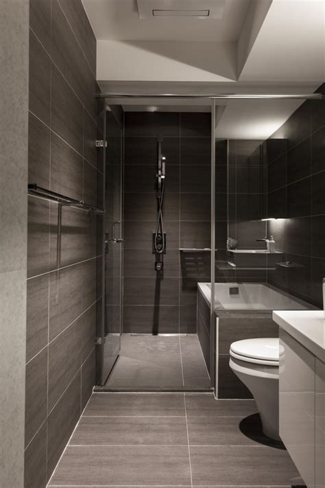 modern small bathroom design gray slate bathroom interior design ideas
