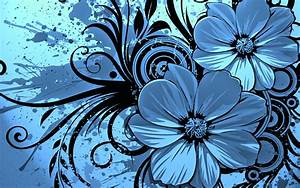 Vector Flower Blue Wallpaper HD Wallpaper | Vector ...