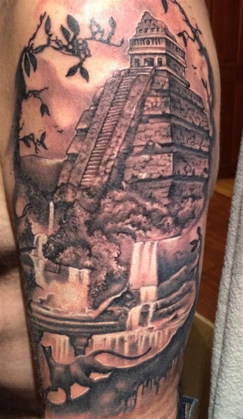 mayan temple tattoo temple tattoo aztec art tattoos